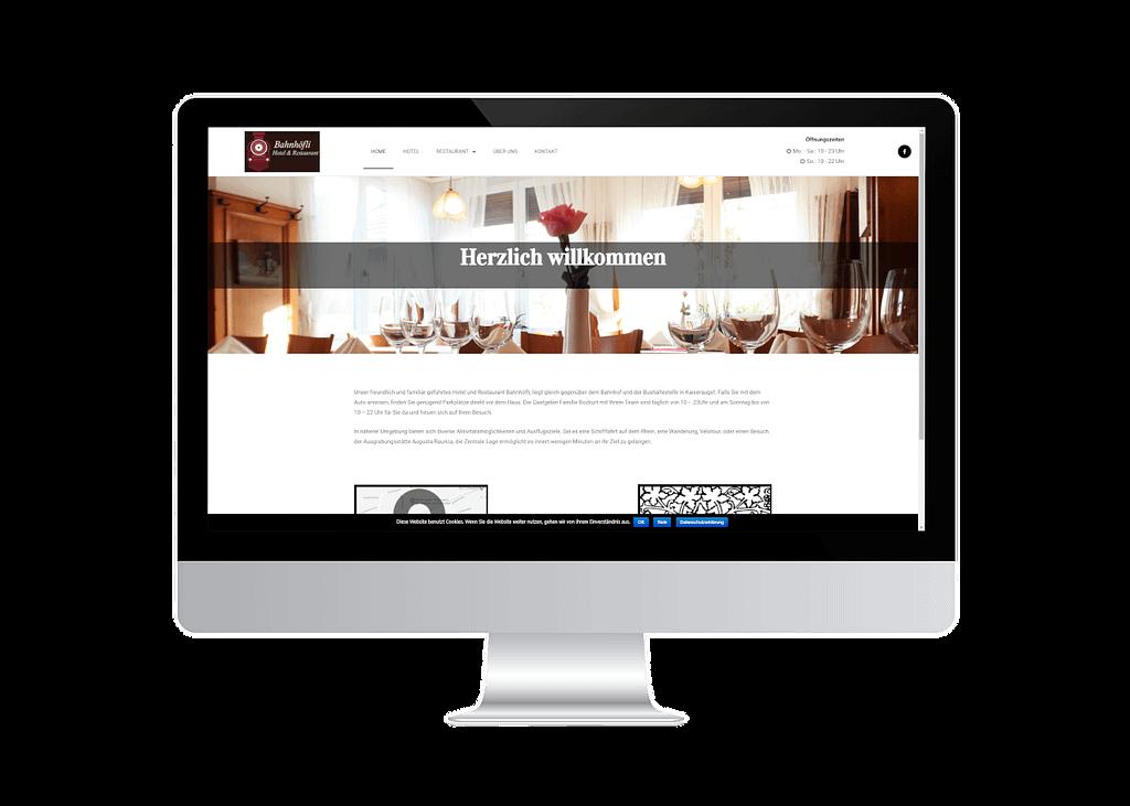 onlinemacher.ch webseite fuer restaurant bahnhöfli