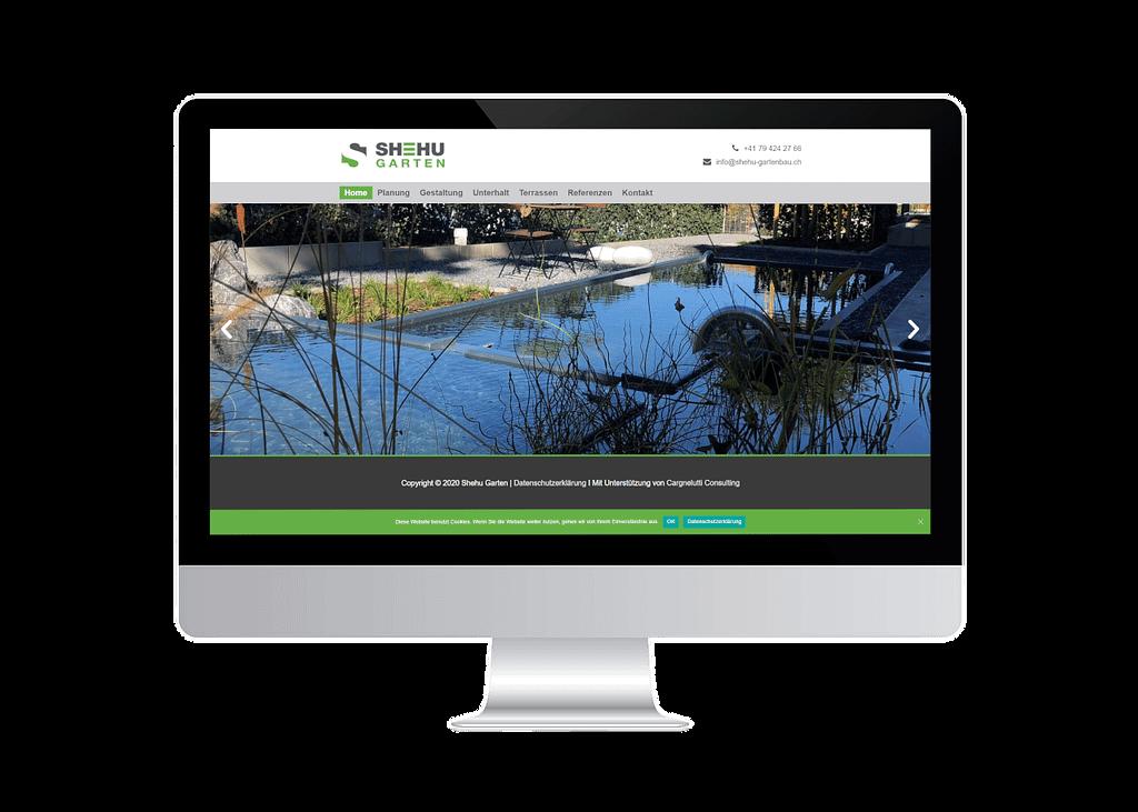 onlinemacher.ch webseite fuer shehu gartenbau