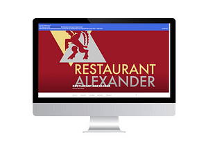 onlinemacher.ch webseite fuer restaurant alexander